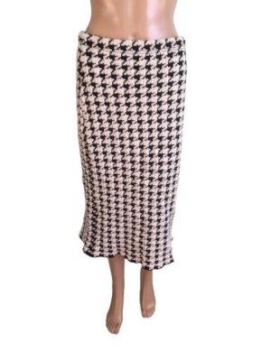 Cartoon Knitted Skirt black-white