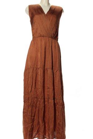 Cartoon Flounce Dress brown classic style