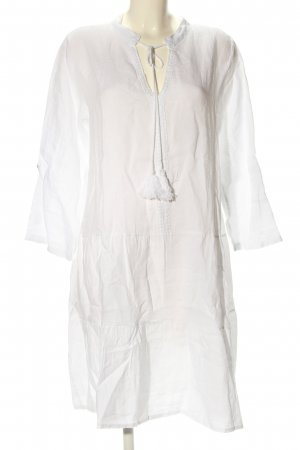 Cartoon Flounce Dress white casual look