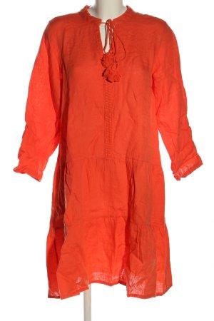 Cartoon Flounce Dress light orange casual look
