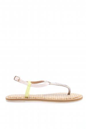 Cartoon Toe-Post sandals natural white casual look