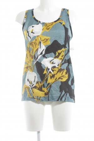 Carven Blouse Top flower pattern