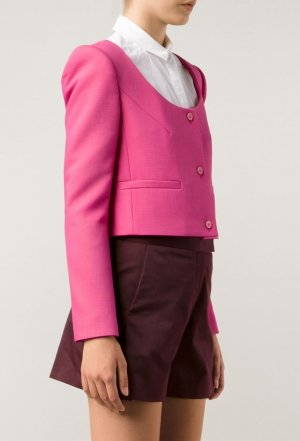 Carven Cropped Blazer trend Farbe Pink blogger