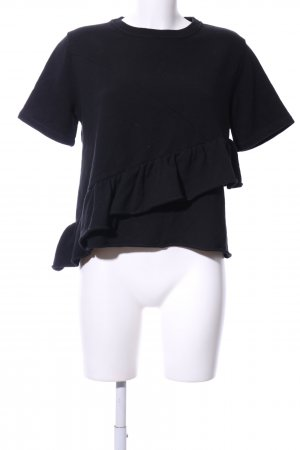 Carven Cropped Shirt schwarz Casual-Look