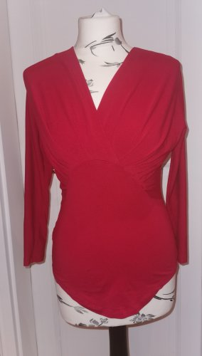 Carven V-hals shirt rood Katoen
