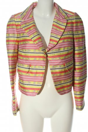 Carven Short Blazer green-pink allover print casual look
