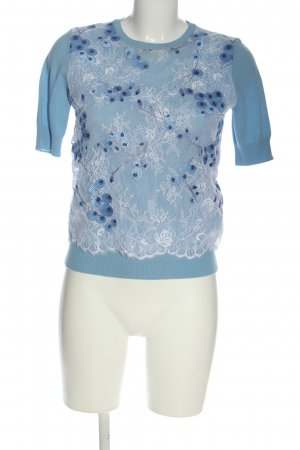Carven Short Sleeve Sweater blue-white casual look
