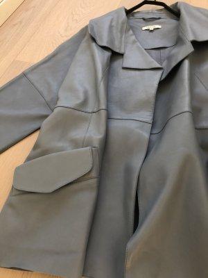 Carven Veste en cuir bleu azur cuir