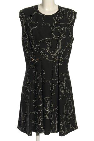 Carven Robe mi-longue noir-blanc imprimé allover style décontracté
