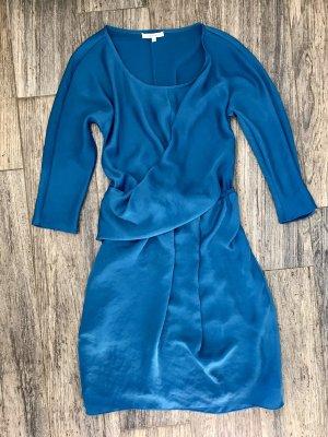 Carven Robe courte bleu-turquoise