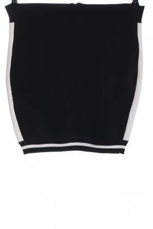 Carven Minirock schwarz-weiß Casual-Look