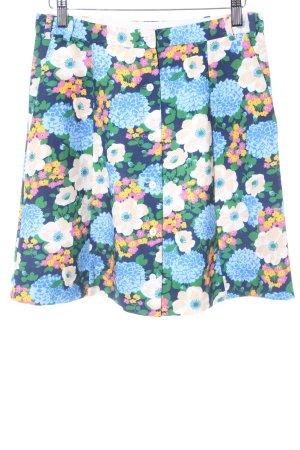 Carven Mini-jupe motif de fleur style rétro