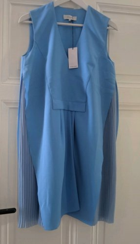 Carven Paris Kleid Pleated Plissee Blue Dress S 36 Neu