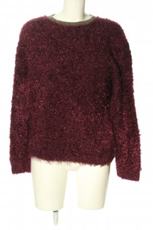 Carven Knitted Sweater pink-black flecked casual look