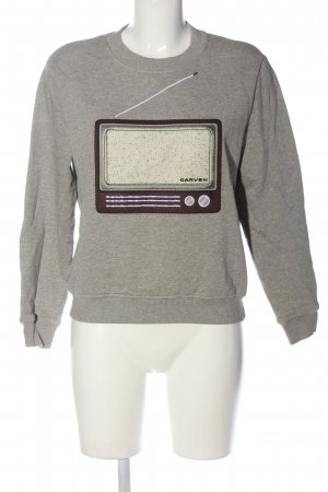 Carven Sweat Shirt light grey flecked casual look