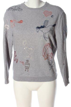 Carven Sweatshirt gris clair moucheté style décontracté