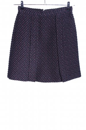 Carven Tweedrock blau Streifenmuster Business-Look