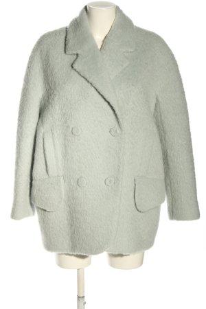 Carven Wollen jas lichtgrijs casual uitstraling