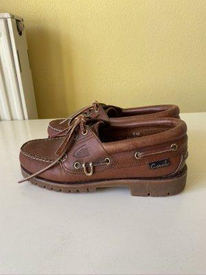 Carvil Zapatos de marinero marrón Cuero