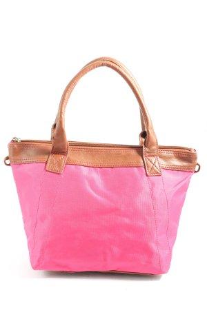 Cas8 Bolso de tela rosa-marrón look casual