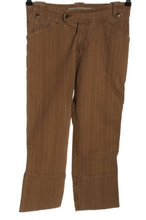 Casa Blanca 3/4 Length Trousers brown-white striped pattern casual look