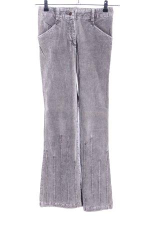 Casa Blanca Pantalon en velours côtelé gris clair moucheté