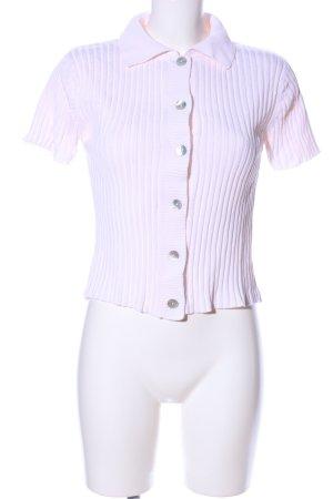 Casa Blanca Short Sleeve Knitted Jacket pink casual look