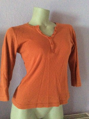 Casall V-Neck Shirt orange cotton
