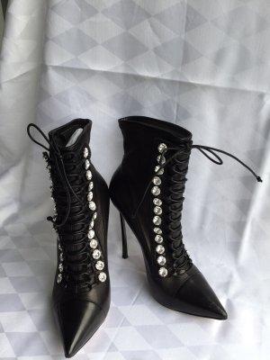 Casadei Sandaletto con tacco alto nero-bianco