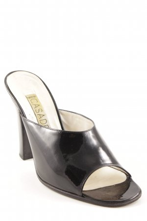 Casadei Heel Pantolettes black Logo application