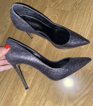Casadei High Heels black-silver-colored
