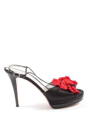 Casadei High Heel Sandaletten schwarz-rot Casual-Look