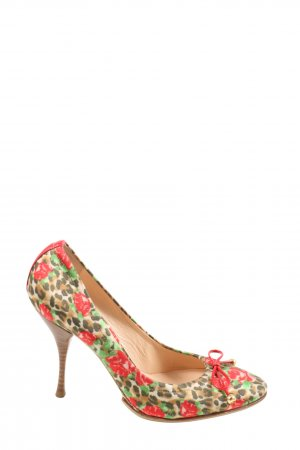 Casadei High Heels flower pattern casual look