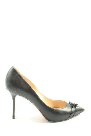 Casadei Classic Court Shoe black business style