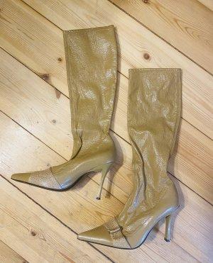 Casadei Lackleder Stiefel vintage