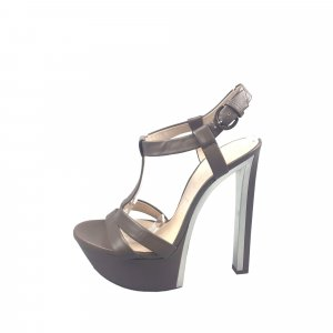 Casadei Leather T-Strap Sandal