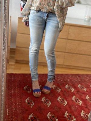 Casadei Sandalo con plateau blu