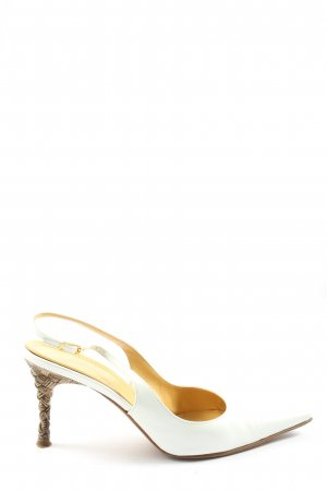 Casadei Slingback Pumps white-brown business style