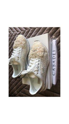 Casadei Sneaker stringata crema