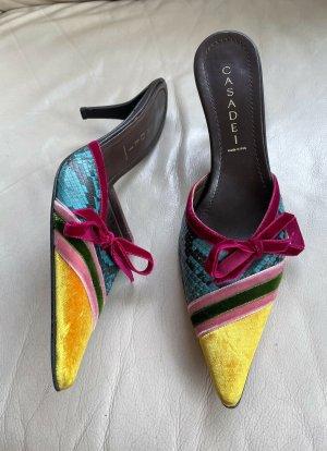 Casadei Sabots multicolored leather