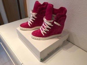 Casadei Sneaker con zeppa rosso neon-rosso lampone