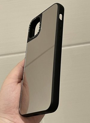 Casetify Étui pour téléphone portable noir-argenté