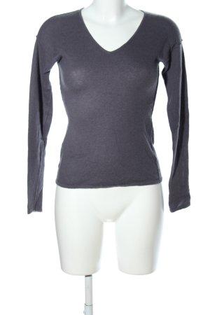 CASHFLOW V-Ausschnitt-Pullover hellgrau Casual-Look