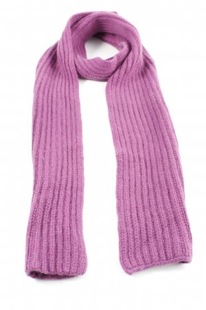 CASHFLOW Woolen Scarf pink cable stitch business style