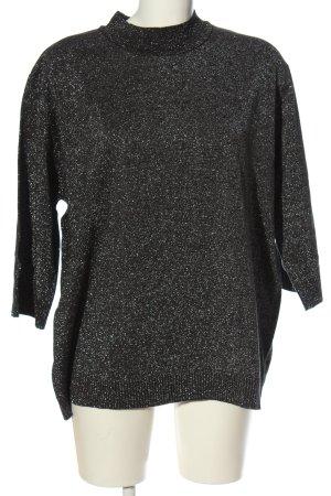 Cashmasoft Fine Knit Jumper black-silver-colored flecked casual look