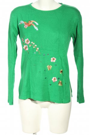 Cashmasoft Knitted Sweater green-pink casual look
