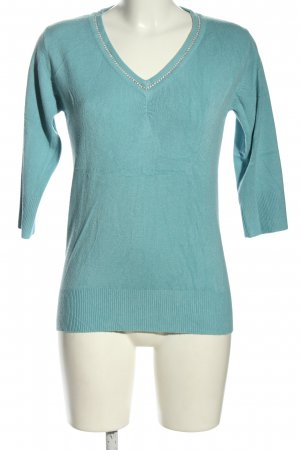 Cashmasoft Knitted Sweater turquoise casual look
