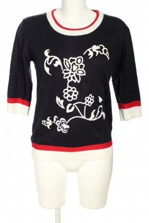 Cashmasoft Knitted Sweater flower pattern casual look