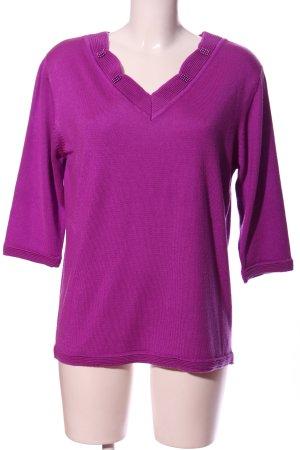 Cashmasoft V-Ausschnitt-Pullover pink Casual-Look