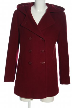 Cashmere and Wool Hooded Coat red casual look